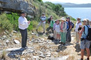 Dr David Shimwell captivates everyone with his enthusiasm and knowledge of the plants on this spectacular walk around the headland.