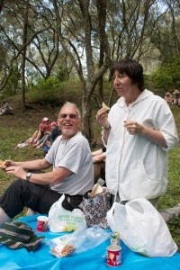 Picnic time gives everything the chance to share food and exitement