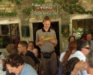Lunch at a local taverna provides the opportunity to award the Golden Duck for an outstanding photograph
